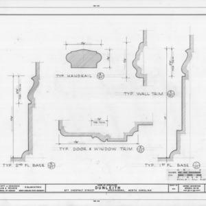 Interior trim details, Dunleith, Greensboro, North Carolina