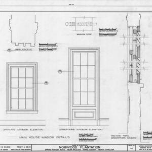 Window details, Norwood Plantation, Wake County, North Carolina