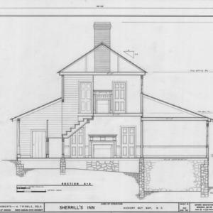 Cross section, Sherrill's Inn, Buncombe County, North Carolina