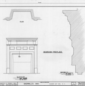 Bedroom fireplace details, Sherrill's Inn, Buncombe County, North Carolina