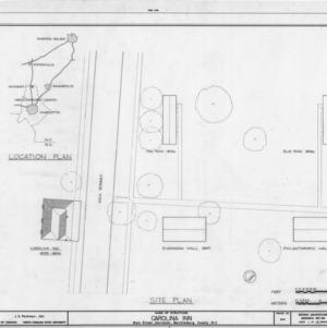 Location map and site plan, The Inn, Davidson, North Carolina