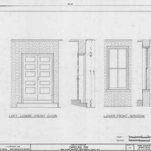 Door and window details, The Inn, Davidson, North Carolina