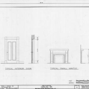 Door and mantel details, The Inn, Davidson, North Carolina