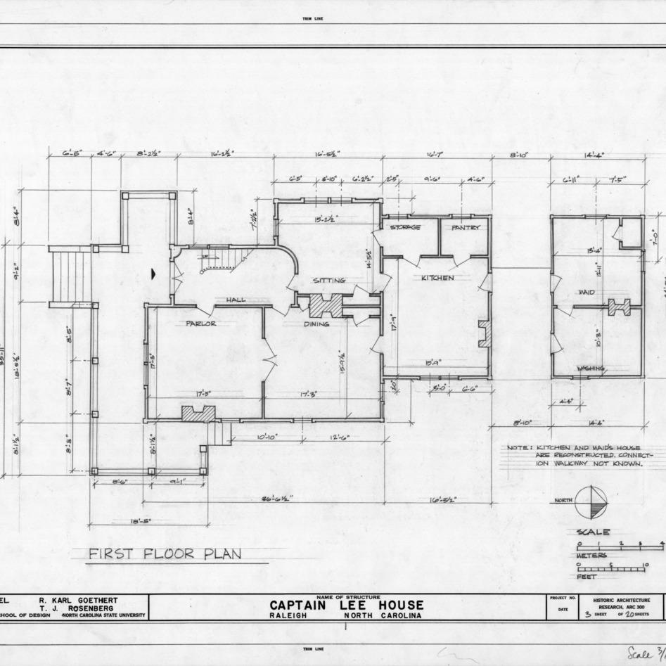 Rosenberg t j ncsu libraries 39 rare and unique digital for House plans north carolina