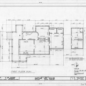 First floor plan, Heck-Lee House, Raleigh, North Carolina