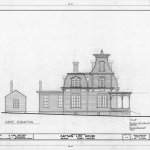 West elevation, Heck-Lee House, Raleigh, North Carolina