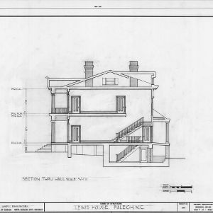 Cross section, Lewis-Smith House, Raleigh, North Carolina
