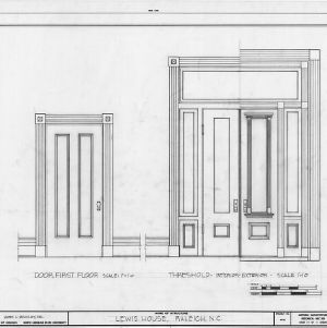 Door details, Lewis-Smith House, Raleigh, North Carolina