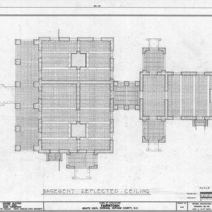 Basement ceiling plan, Fairntosh, Durham, North Carolina