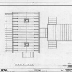 Framing plan, Fairntosh, Durham, North Carolina