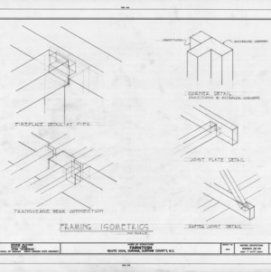 Framing isometrics, Fairntosh, Durham, North Carolina