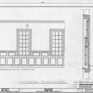 Parlor elevation and detail, Fairntosh, Durham, North Carolina