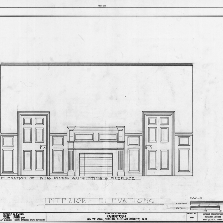 Ncsu libraries 39 rare and unique digital collections search for Living room elevation