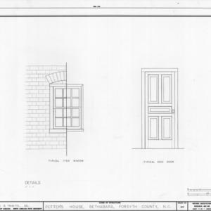 Door and window details, Schaub-Krause House, Winston-Salem, North Carolina