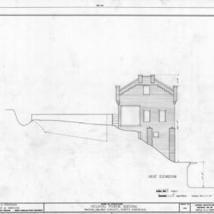 West elevation, Roanoke Navigation Canal Power Houses, Weldon, North Carolina
