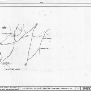 Location map, William Thompson House, Wake County, North Carolina
