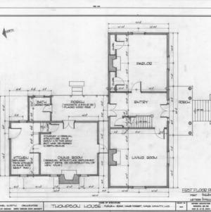 First floor plan, William Thompson House, Wake County, North Carolina