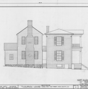 West elevation, William Thompson House, Wake County, North Carolina