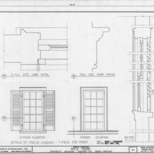 Window details, Mace House, Beaufort, North Carolina