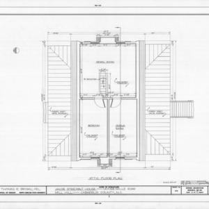 Attic plan, Mill Hill, Cabarrus County, North Carolina
