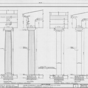 Column details, Mill Hill, Cabarrus County, North Carolina