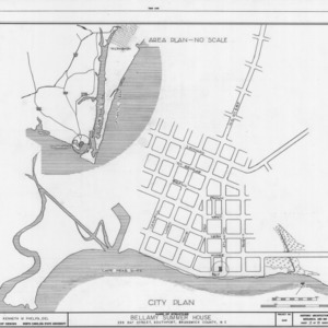 Location map and site plan, Walker-Pyke House, Southport, North Carolina