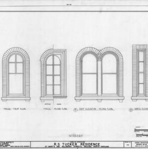Window details, R. S. Tucker House, Raleigh, North Carolina