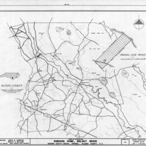Location map, Walnut Grove, Bladen County, North Carolina
