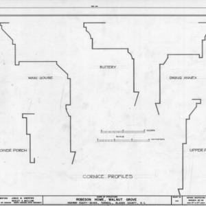 Cornice details, Walnut Grove, Bladen County, North Carolina