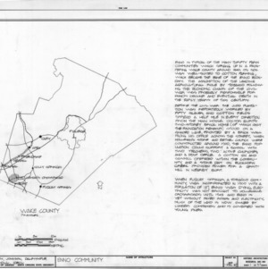 Location map with notes, Holleman's Crossroads, Wake County, North Carolina