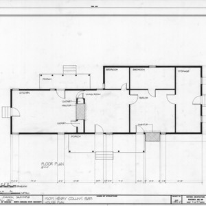 Floor plan, Isom Henry Collins Farm, Holleman's Crossroads, Wake County, North Carolina