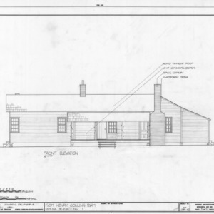 Front elevation, Isom Henry Collins Farm, Holleman's Crossroads, Wake County, North Carolina