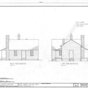 Side elevations, Isom Henry Collins Farm, Holleman's Crossroads, Wake County, North Carolina