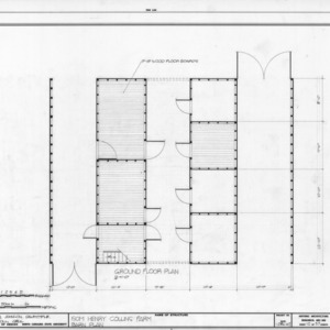 Barn floor plan, Isom Henry Collins Farm, Holleman's Crossroads, Wake County, North Carolina
