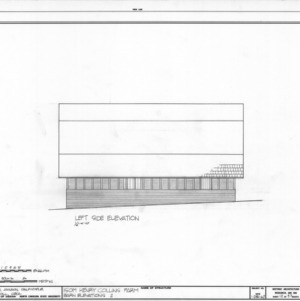 Side elevation of barn, Isom Henry Collins Farm, Holleman's Crossroads, Wake County, North Carolina