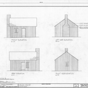 Elevations, J. V. Welch House, Holleman's Crossroads, Wake County, North Carolina