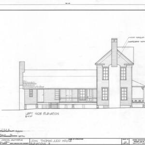 Side elevation, John Thomas Judd House, Holleman's Crossroads, Wake County, North Carolina