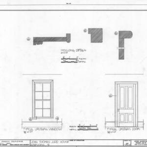 Door and window details, John Thomas Judd House, Holleman's Crossroads, Wake County, North Carolina