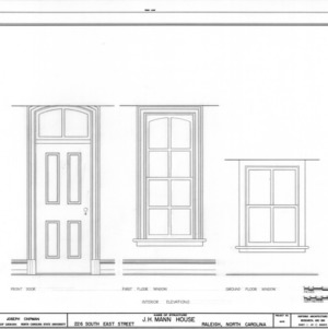 Window details, Mann House, Raleigh, North Carolina