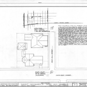 Site plan with notes, St. Michael and All Angels, Charlotte, North Carolina