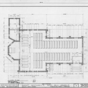 Floor plan, St. Michael and All Angels, Charlotte, North Carolina