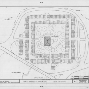 Site plan, Rock Springs Campground, Lincoln County, North Carolina