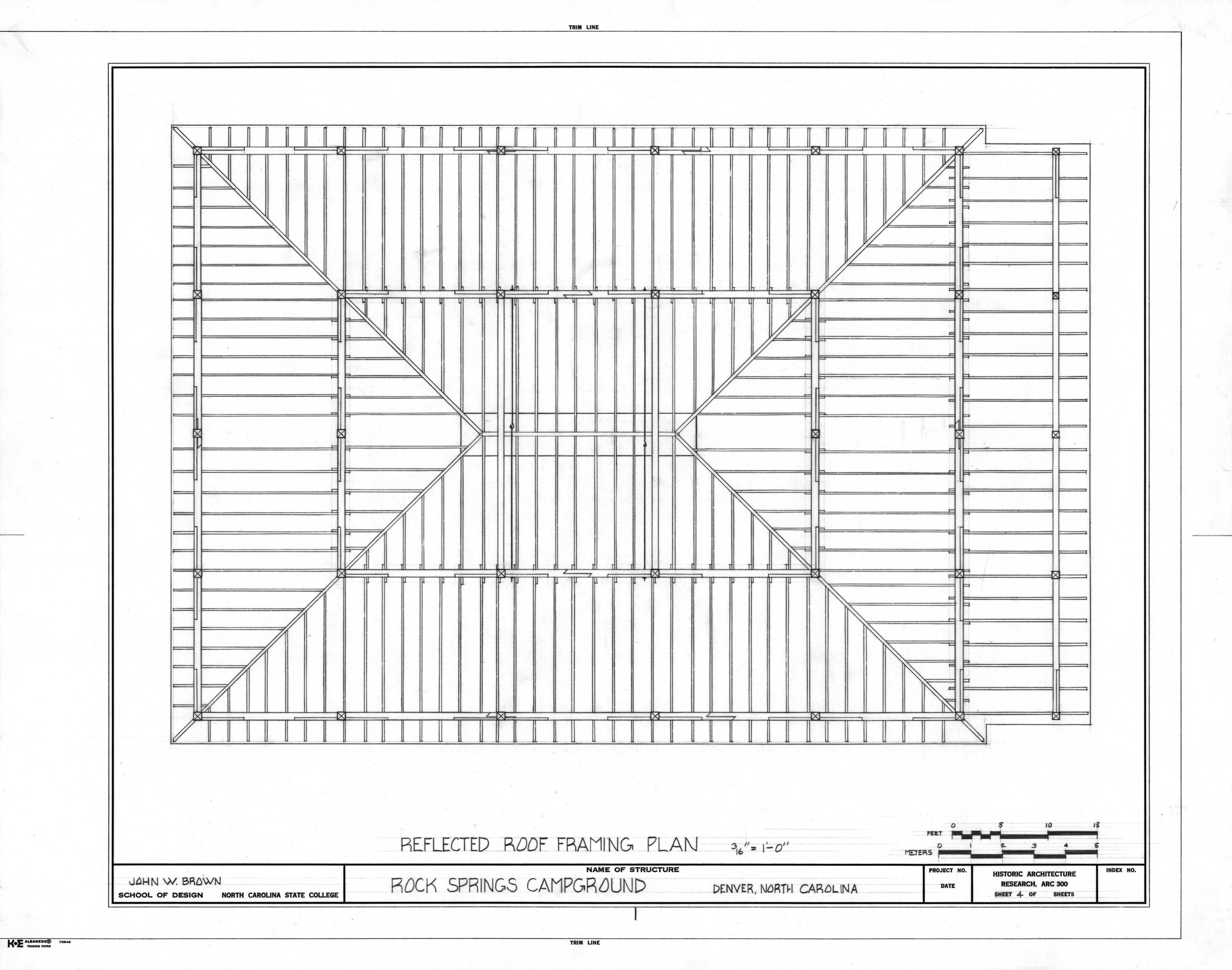 Roof plan drawing for Roof plan drawing