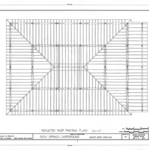 Arbor roof framing plan, Rock Springs Campground, Lincoln County, North Carolina