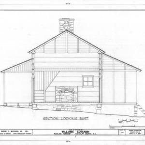 Cross section, Williams-Bryant Log House, Randolph County, North Carolina