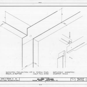 Isometric framing details, Williams-Bryant Log House, Randolph County, North Carolina