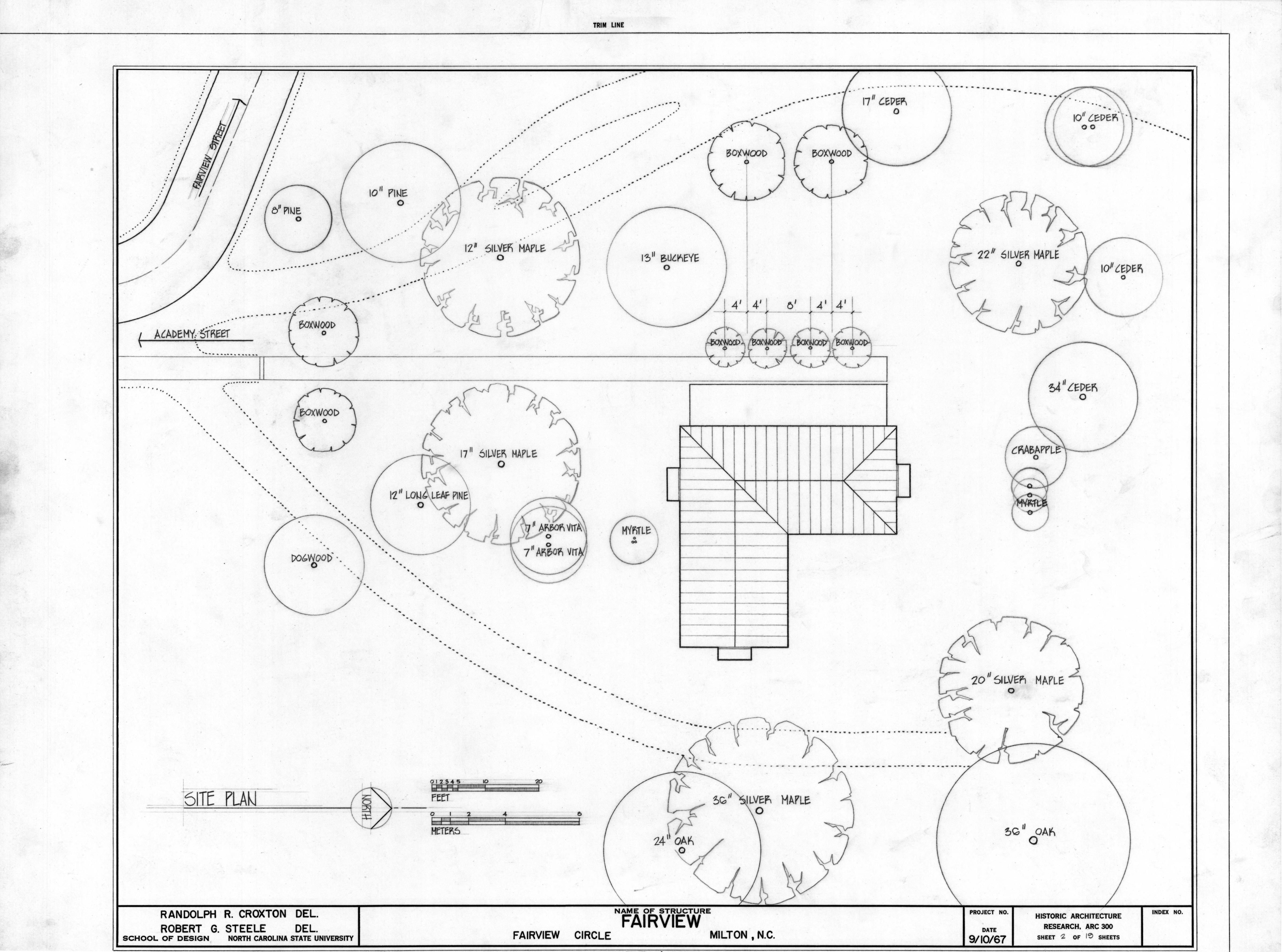 Site plan asa thomas house milton north carolina asa for Websites to design houses for free