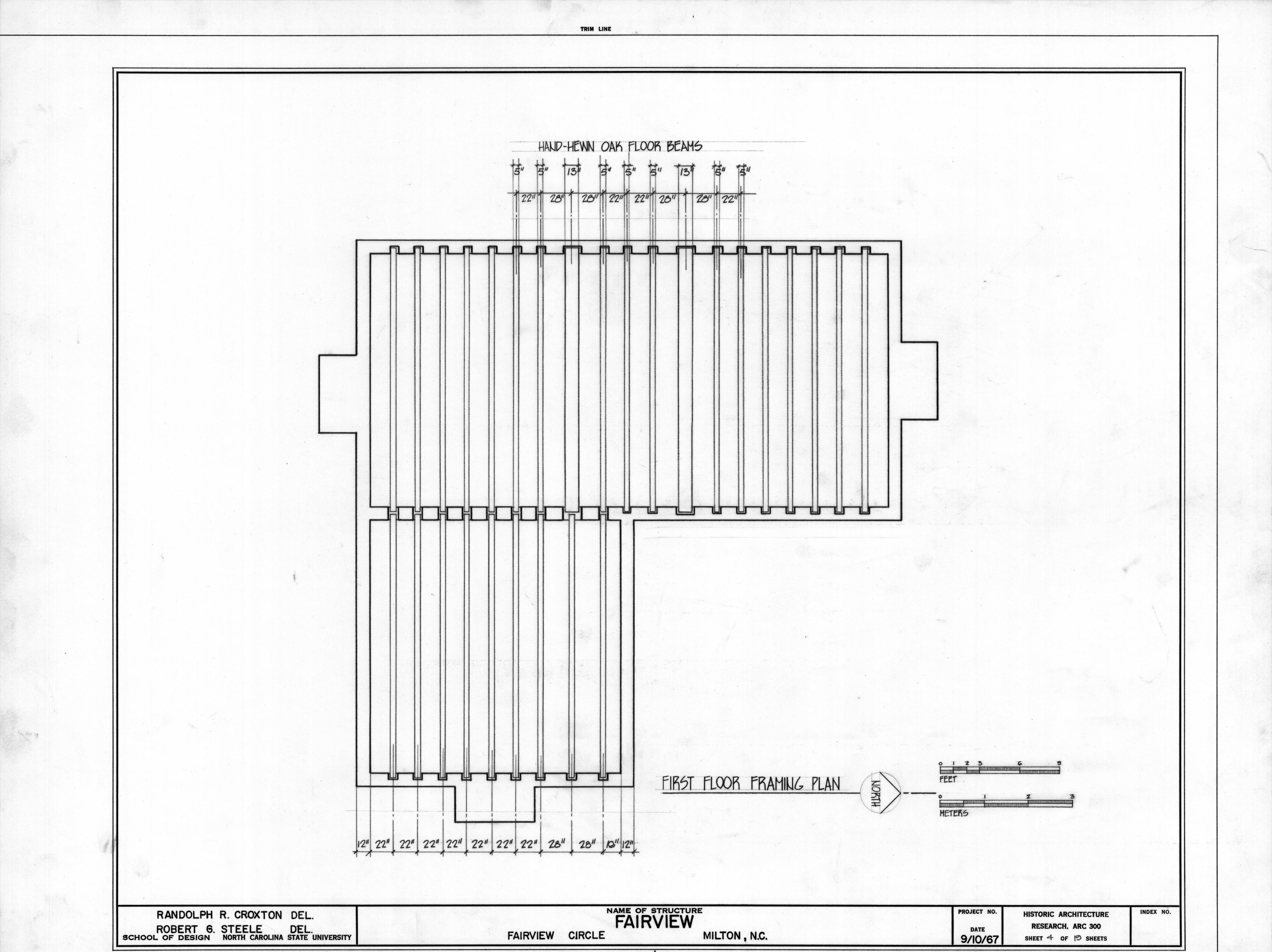 first floor framing plan asa thomas house milton north