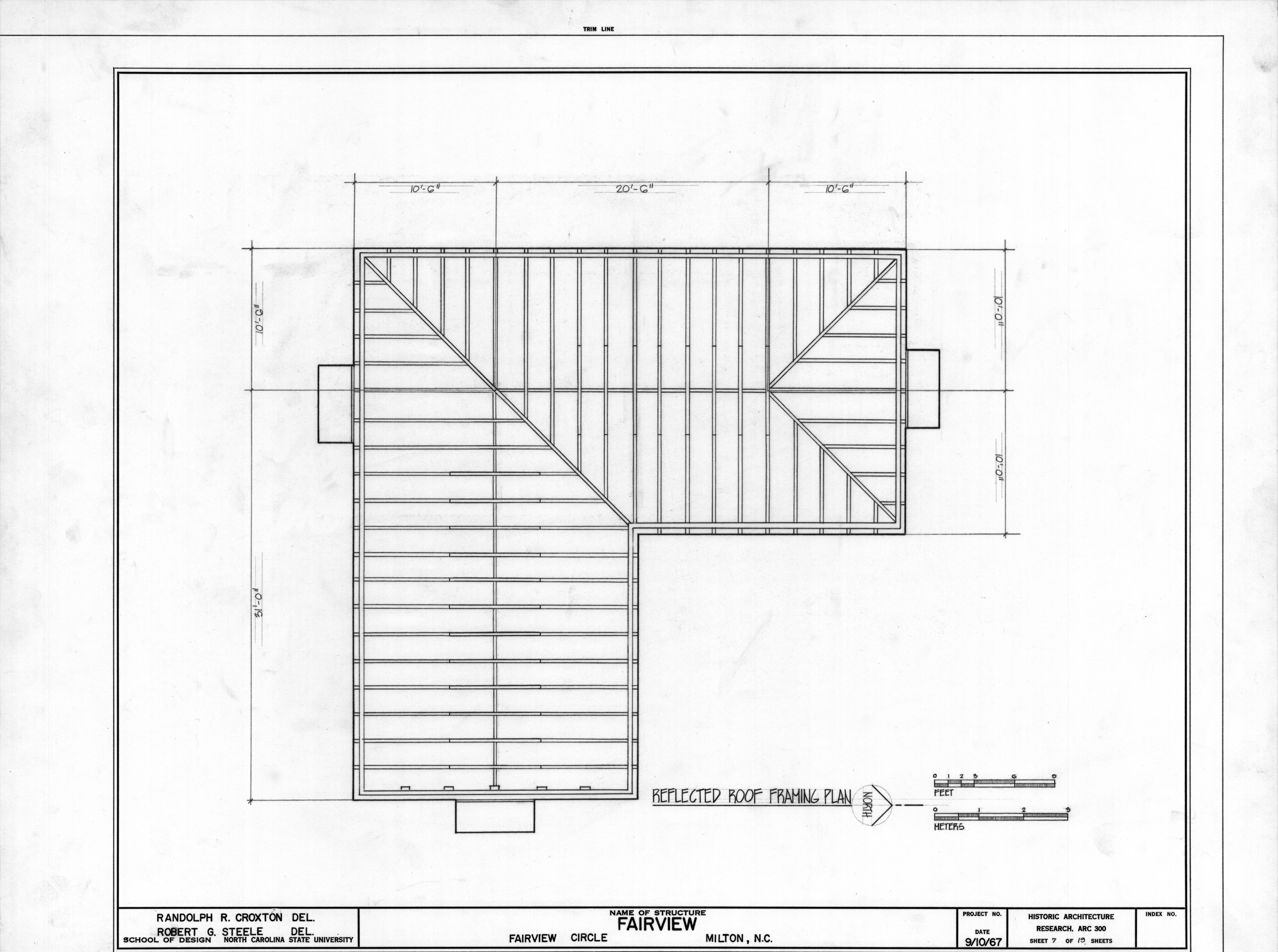 Roof framing plan asa thomas house milton north for House frame design
