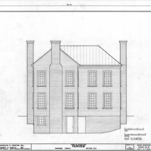 East elevation, Asa Thomas House, Milton, North Carolina